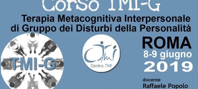 CORSO Terapia Metacognitiva Interpersonale di Gruppo dei Disturbi della Personalità