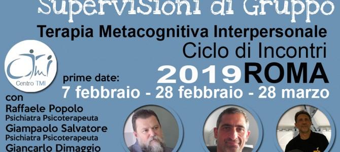 Ciclo di Supervisioni di Gruppo TMI 2019