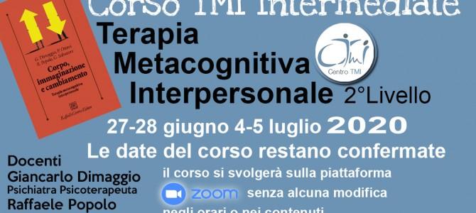 TMI  INTERMEDIATE Corso su Zoom 27-28 giugno 4-5 luglio 2020